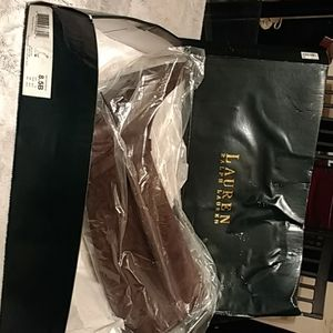 New Authentic Ralph Lauren brown leather/suede boo